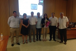 Carmen Mejuto with the members of the evaluation panel and he PhD Thesis supervisors