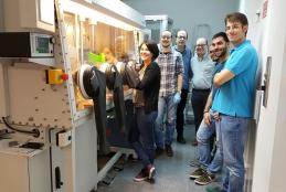 Elena, Francisco i Ramón amb Joaquim Puigdollers i altres membres del Departament d'Enginyeria Electrònica de la UPC